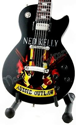Miniature Guitar NED KELLY with free stand