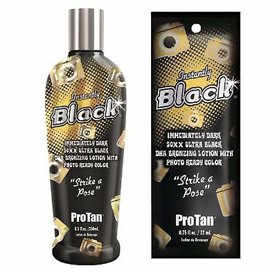 Pro Tan - Instantly Black - Sunbed Tanning Lotion Cream - Sachet & Bottle