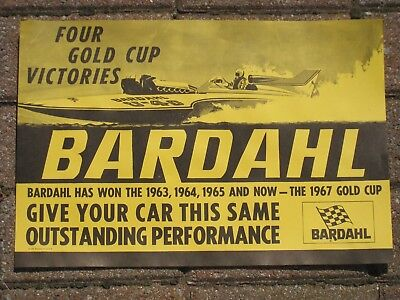 """Bardahl """" Four Gold Cup """" Victories Poster ( NOS )"""