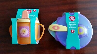 Weaning Set Bowl Lid & Spoon and Sipper Cup *BNIP*