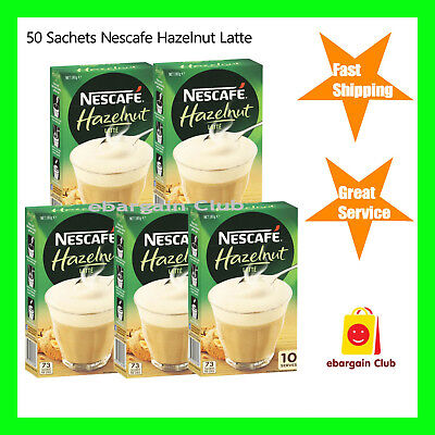 50 Sachets Nescafe Cafe Menu Coffee Hazelnut Latte eBargainClub