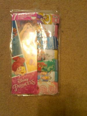 New Pack Of 7 Pr Girls Disney Princess Panties Underwwear 100% Cotton Size 6