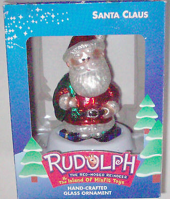 Santa Claus Glass Ornament Rudolph & Island Of Misfit Toys Brass Key Collection