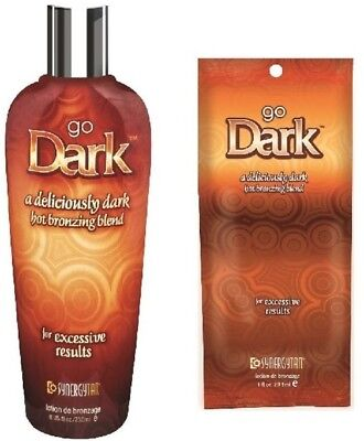 Synergy Tan - Go Dark - Sunbed Tanning Lotion Cream - Sachet & Bottle