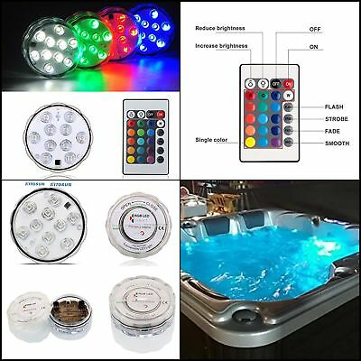 Swimming Pool Light RGB LED Bulb Remote Control Underwater Color Vase Decor