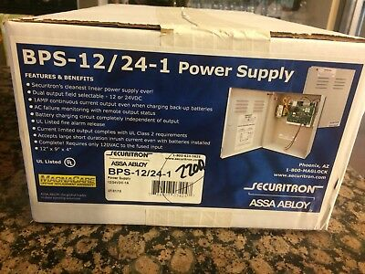 Securitron ASSA ABLOY BPS-12/24-1 Power Supply NEW 12 Or 24 V original packaging