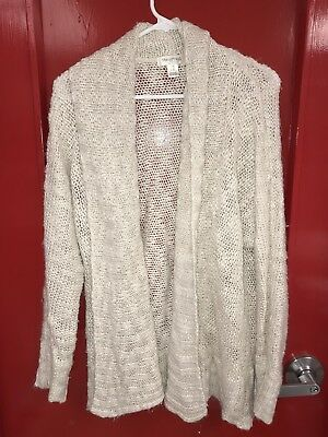 MOTHERHOOD MATERNITY Cream Color Loose Knit Sweater No Button Jacket Size Xl