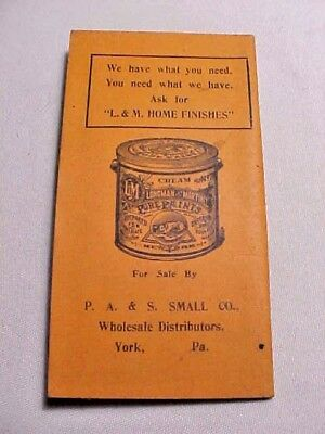 Vintage Longman & Martinez Pure Paints NY Tablet Booklet P A S Small York PA
