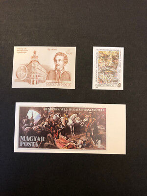 Hungary Scott No. 2987,2997, 2998 MNH Imperforate Imperf Imp Stamps of 1986