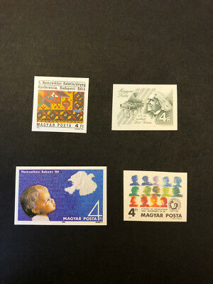 Hungary Scott No. 3002,3003,3004,3014 MNH Imperforate Imperf Imp Stamps of 1986