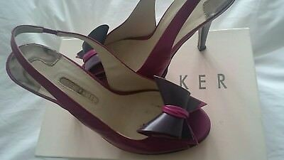 Tedd Baker Shoes hot pink and plum size 6