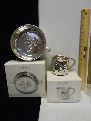 Towle Nursery Rhyme Collection Silverplated Porringer & Baby Cup