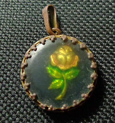 Antique 14th-15th century gold rock crystal pendant