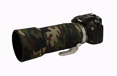 Canon 100 400mm IS Mk2 Neoprene Lens Protection Camouflage Cover : AP Premium