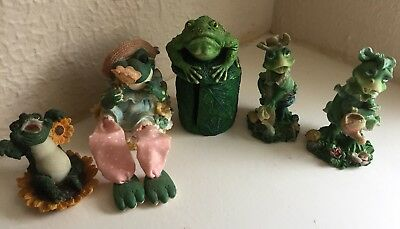 "Frog Figurines advantage Collection set of 5 ""So Happy You Fluttered into M Life"