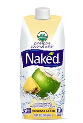 Naked Juice Coconut Pineapple Water, 16.9 oz, Pack Of 11, SHORT DATED, 02 / 2018