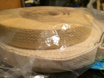 Lot of Camel & Natural White 1 inch Heavy Cotton Webbing Strapping