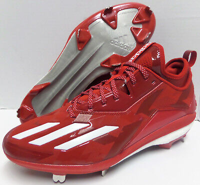 lowest price 23160 0a0be Men s ADIDAS BOOST ICON 2 2.0 METAL BASEBALL CLEATS RED WHITE Size 12 B72823
