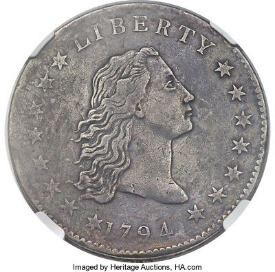 1794 Flowing Hair Silver Dollar  Ngc Vf B-1 Bb-1 R-4 Rare Coin & Great Details!