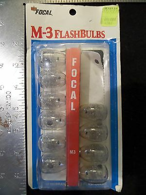 Vintage Camera FLASH BULBS M3 10 Clear Bulbs FOCAL Kmart