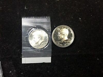 1976-S Kennedy Half Dollar Proof in Mint Capsule & 1976-S Business 40% Silver