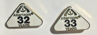 2 ALBERTSON'S Grocery Store - Service Pins - 32 & 33 years of service