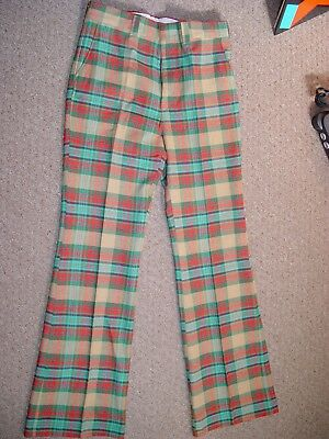 Vtg NOS With Tags 70s BELL BOTTOM Flare Leg Pants WRIGHT GRAB BAGS W34 L34