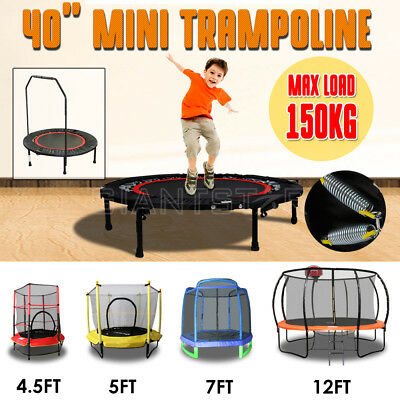 "Lazar Fitness 40"" 4.5FT 5FT 7FT 12FT Round Trampoline Safety Net Indoor Outdoor"