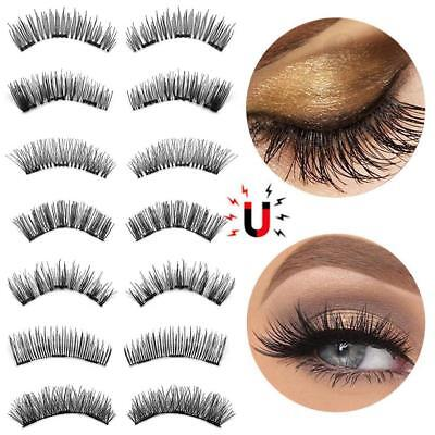 3D Triple Magnet Magnetic Eyelashes Reusable False Eye Lashes Extension Makeup
