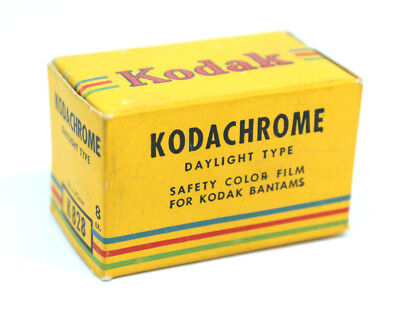 Vintage Kodachrome 828 in near-perfect sealed box NOS. Expires 9/1953!