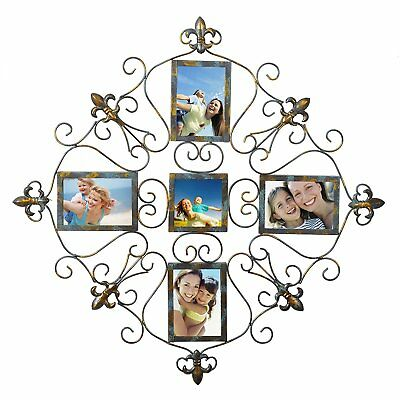 """WOLTU 5 Openings 4x6"""" Plexiglass Picture Frame Wall Hanging Photo Frame"""