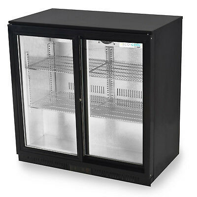 Primo 2 Double SLIDING Door Bar Beer Fridge | FREE DELIVERY