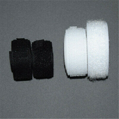 10M Not Self Adhesive Hook and Loop Tape Sew-On Craft Fastener Tape Black/White