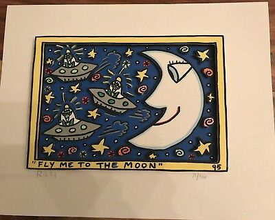 James Rizzi 3D FLY ME TO THE MOON 1995