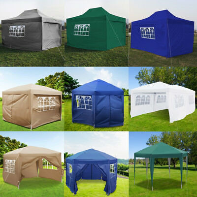 2x2m/2.5x2.5m/3x3m/3x6m Heavy Duty Waterproof Garden Pop Up Gazebo Marquee Tent