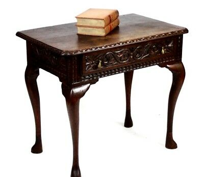 Antique Victorian Carved Oak Hall Table - FREE Shipping [PL4267]