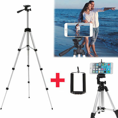 Professional Camera Tripod Stand Mount + Phone Holder for Cell Phone iPhone ky