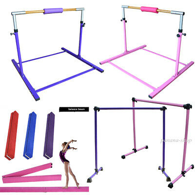 Gymnastics High bar Hardwood Bar /Balance Beam 2.1m/ Ballet Barre Bar Dance Blue