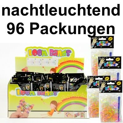 96 Pack Loom Bands Loops Gummibänder Armband Bandz Loop Looms Kindergeburtstag