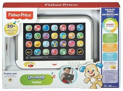 Mattel Fisher Price Lernspaß Tablet grau