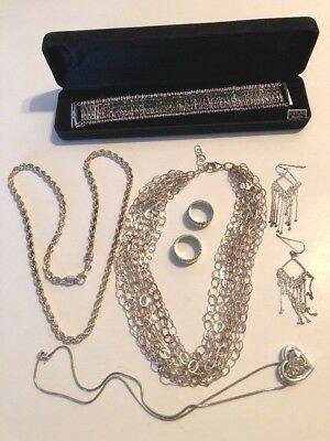 Sterling Silver ~.925 Jewelry Lot Scrap Or Wear 188+ Grams  (No Repairs Needed)