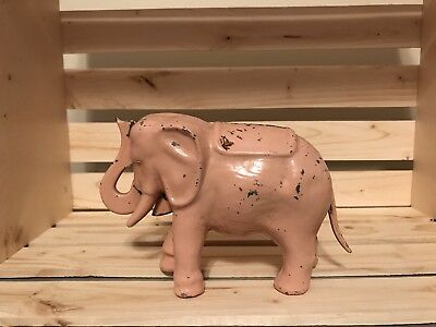 Mechanical Pink Elephant Coin Bank (antique)