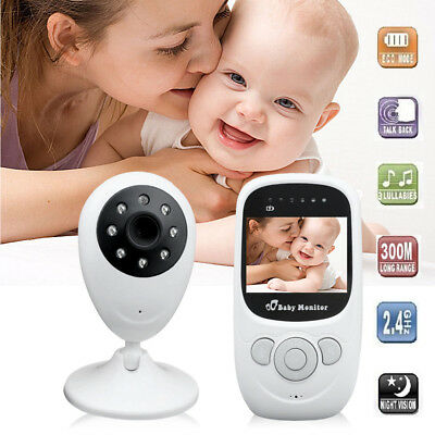 "Digital Wireless Baby Monitor Camera Night Security WIFI Vision 2.4"" HD Video UK"