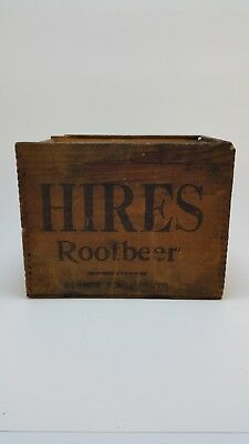 Antique Hires Root Beer Small Promotional Wood Box From 1880's