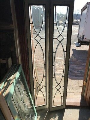 Sg2115 2Av Price Each Antique All Beveled Transom Sidelight Window 11 7/8 X 64.5
