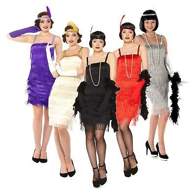 Ladies Flapper Costumes 20s 30s Charleston Great Gatsby Jazz Fancy Dress Outfit