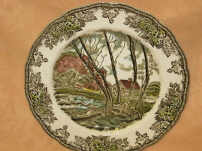 """UNUSED Johnson Brothers Friendly Village 8"""" Side Plate - Willow by The Brook"""