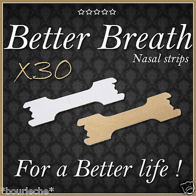 30 LARGE NASAL STRIPS - BETTER BREATHE - BEST QUALITY - Anti-snoring
