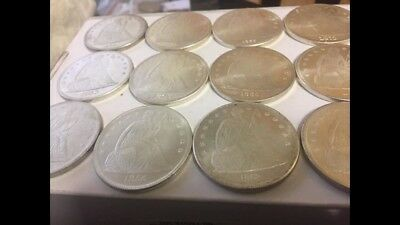 Seated Liberty Dollars Lot Of 7