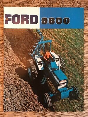 Vintage Ford 8600 Farm Tractor Brochure Dealer Advertising